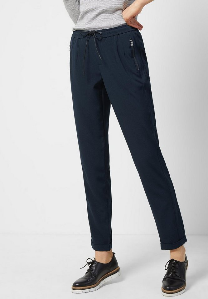 Street One Casual Fit Hose Lolle in night blue