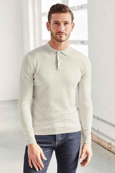Next Poloshirt mit langen Ärmeln Sale Angebote Schipkau