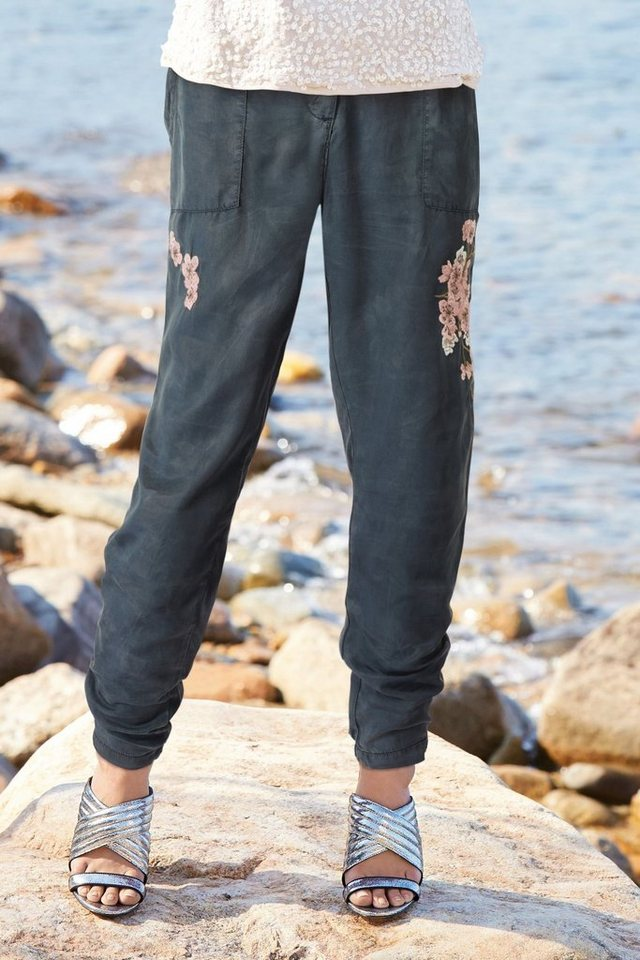 Next Cargohose mit Stickerei in Grey