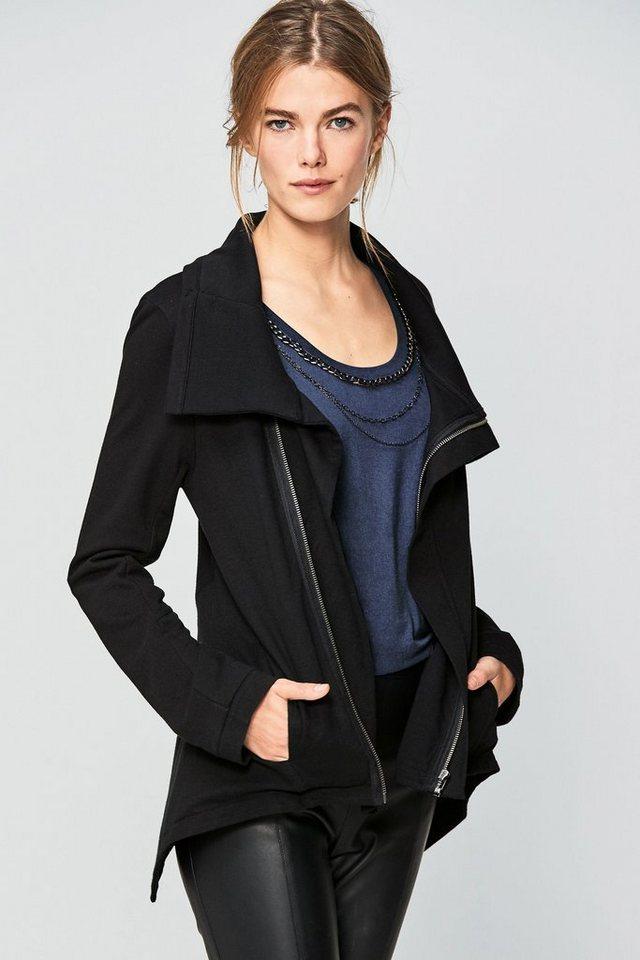 Next Jacke mit weitem Stehkragen in Black