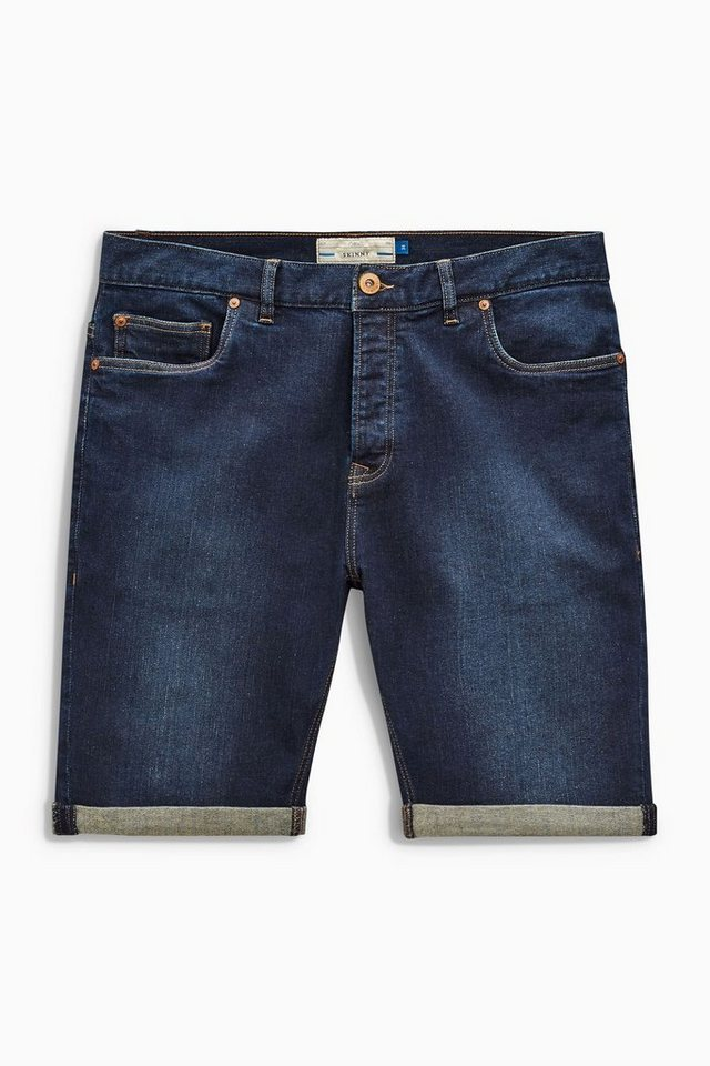 Next Skinny-Fit Denim-Shorts in Blue