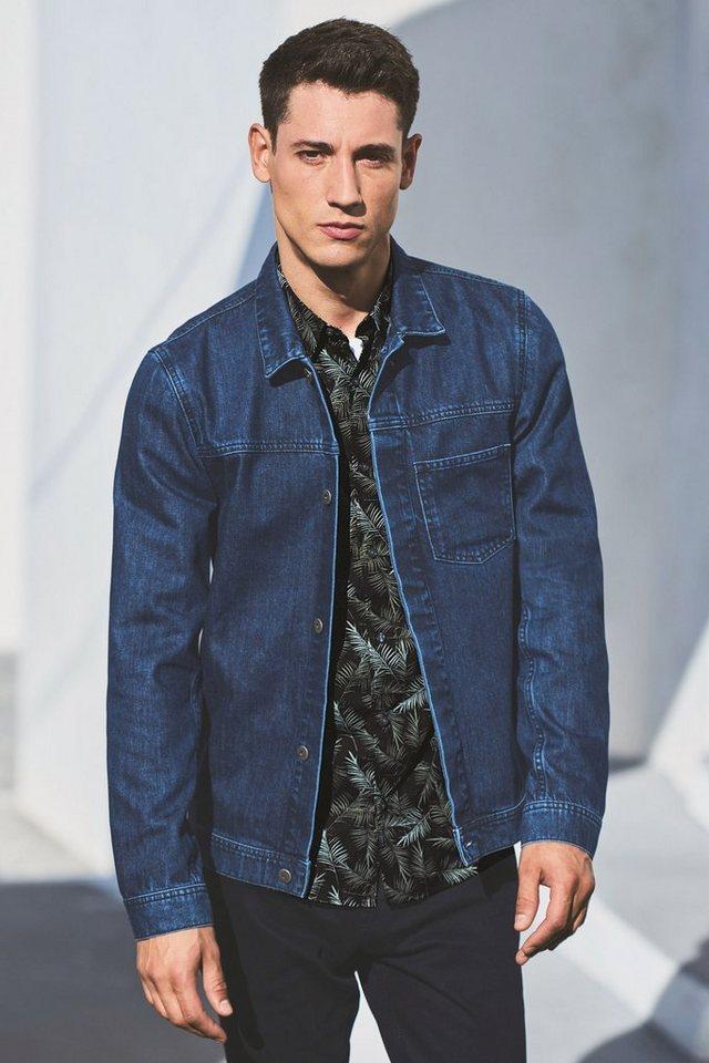 Next Workwear-Jacke aus Denim in Blue