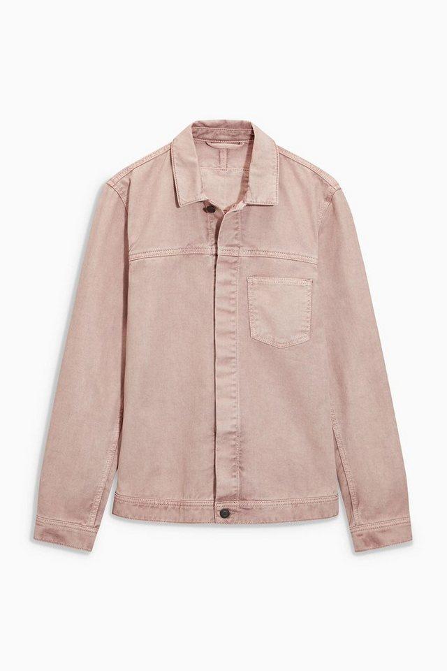 Next Jacke aus Denim in Pink