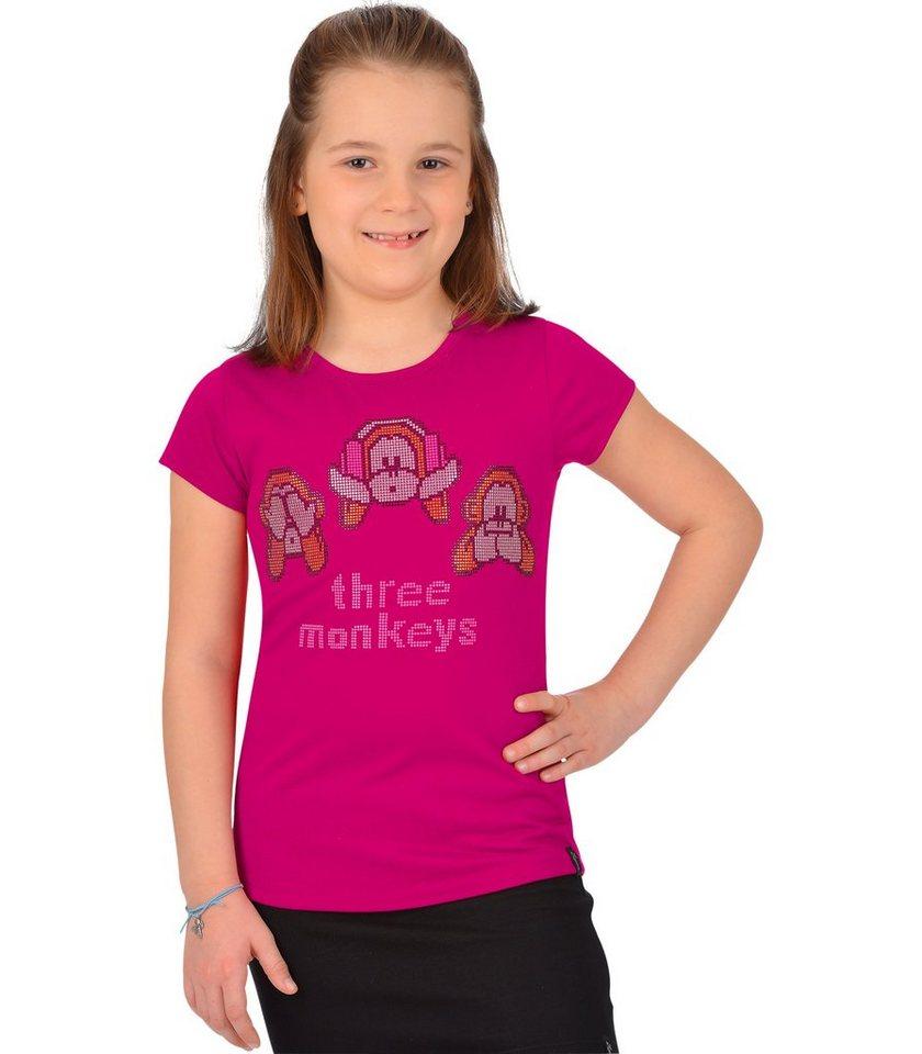 TRIGEMA Shirt Three Monkeys in magenta