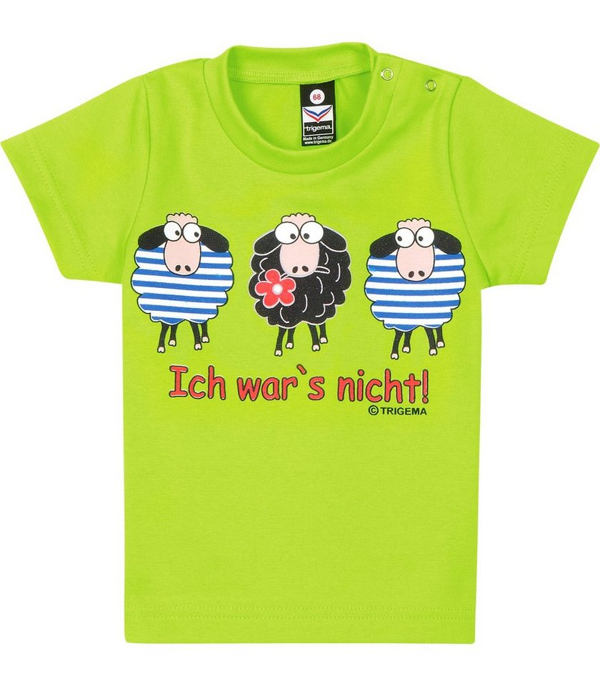 TRIGEMA T-Shirt Feinripp Schafe in lemon