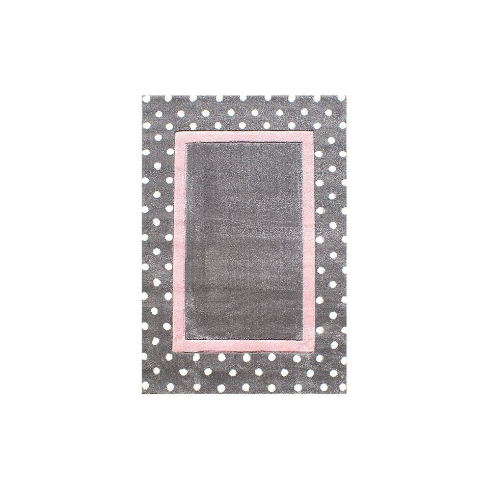happy rugs teppich point silbergrau rosa kaufen otto. Black Bedroom Furniture Sets. Home Design Ideas