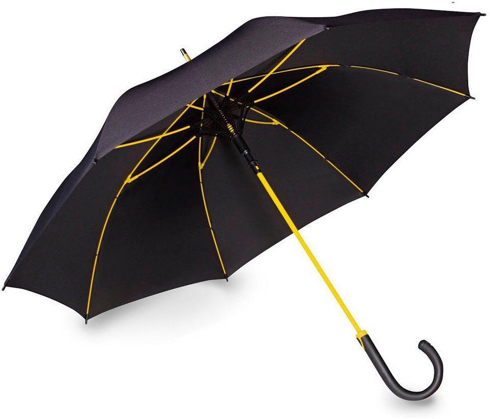 doppler® Regenschirm, »Stockschirm Fiber Party AC gelb«