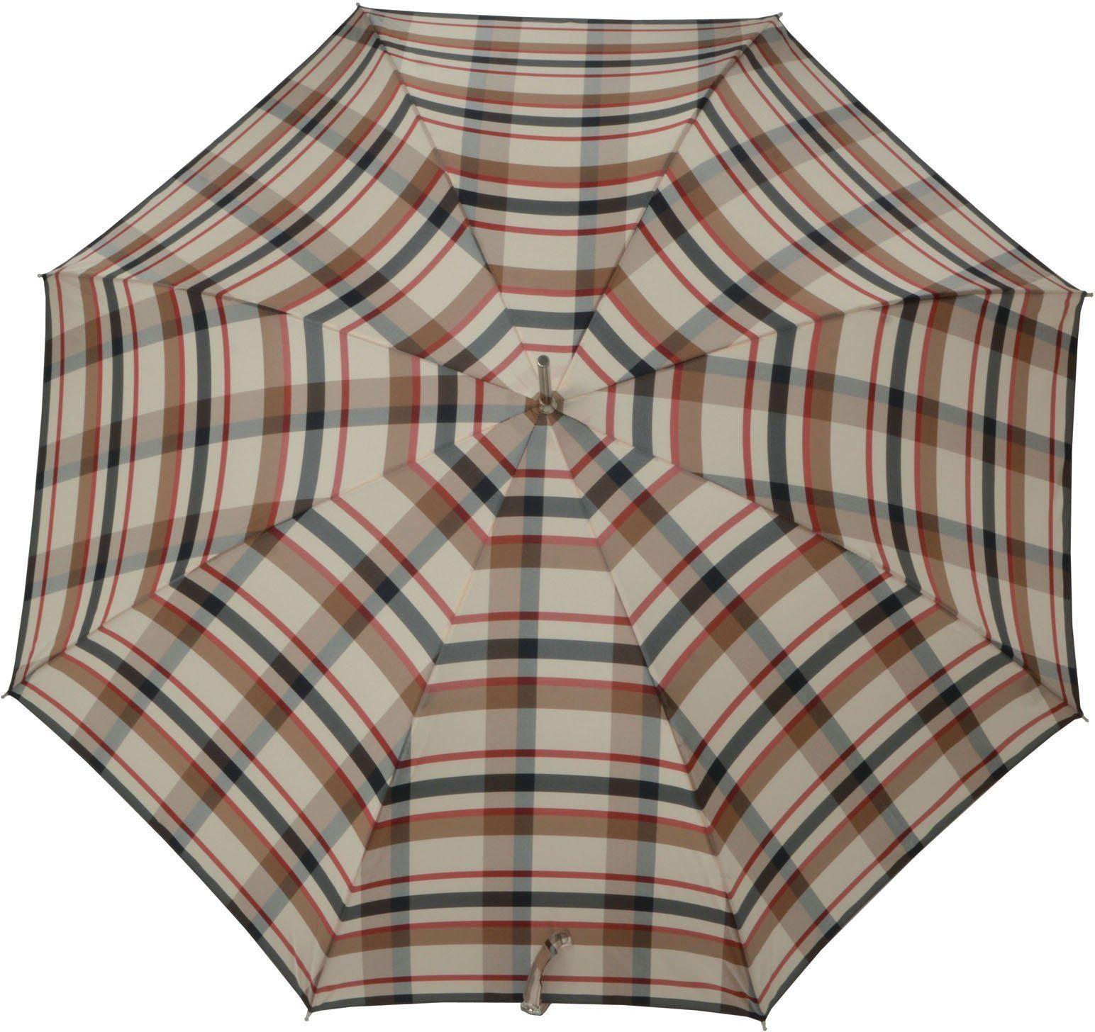 doppler® Regenschirm, »Stockschirm Carbonsteel Lang AC karo beige«