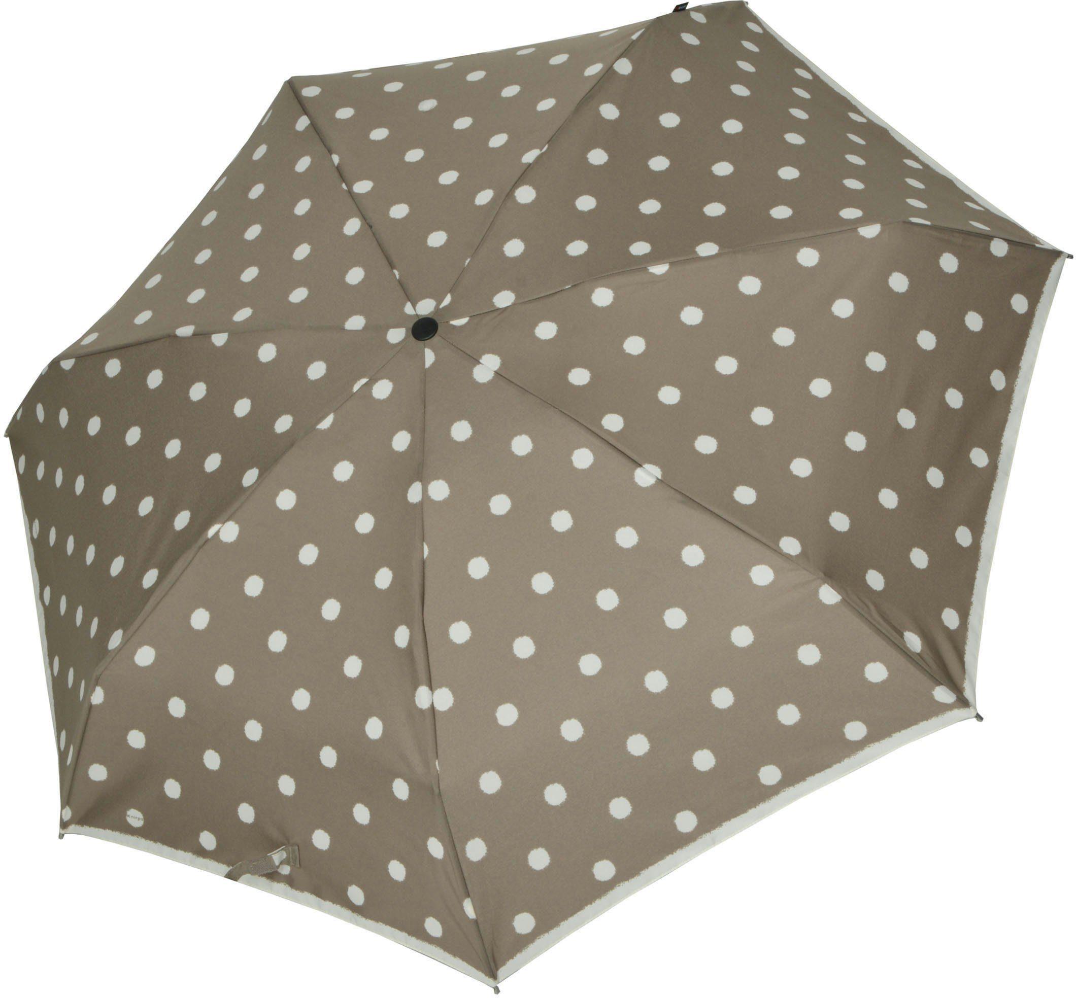 Knirps Regenschirm, »Taschenschirm Piccolo dot art taupe«