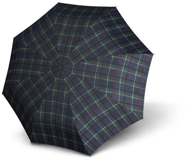 Knirps® Regenschirm, »Taschenschirm T2 check blue + green«