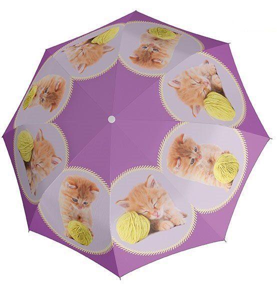 Doppler Regenschirm für Kinder, »Stockschirm Kitty Automatik«