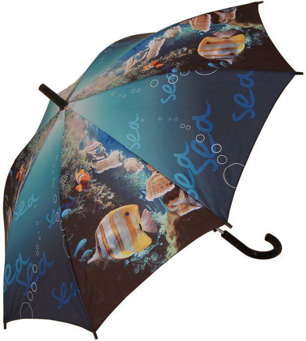 doppler® Regenschirm für Kinder, »Stockschirm Clownfish Automatik«