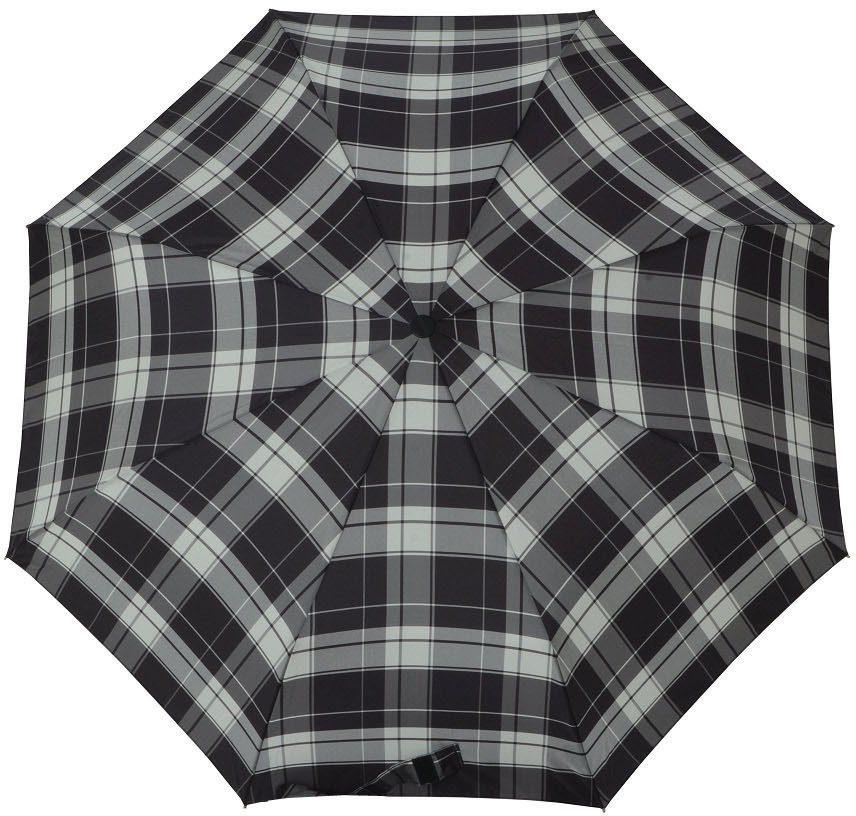 doppler® Regenschirm, »Taschenschirm Carbonsteel Mini karo grau«