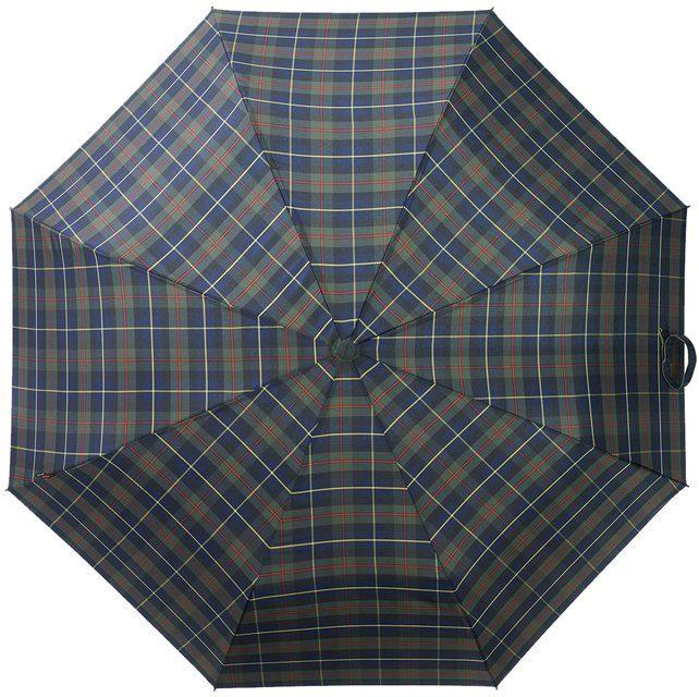Knirps® Regenschirm, »Taschenschirm T2 check navy + yellow«