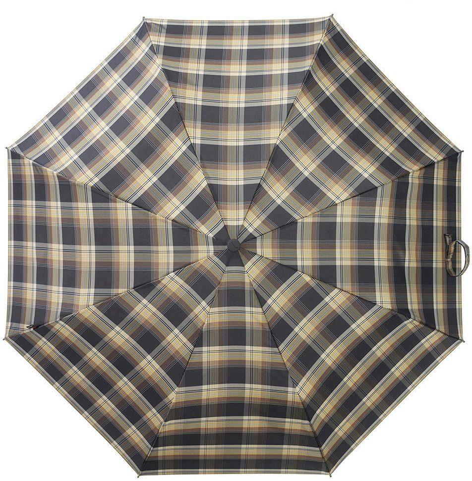 Knirps® Regenschirm, »Taschenschirm T2 check black + mustard«