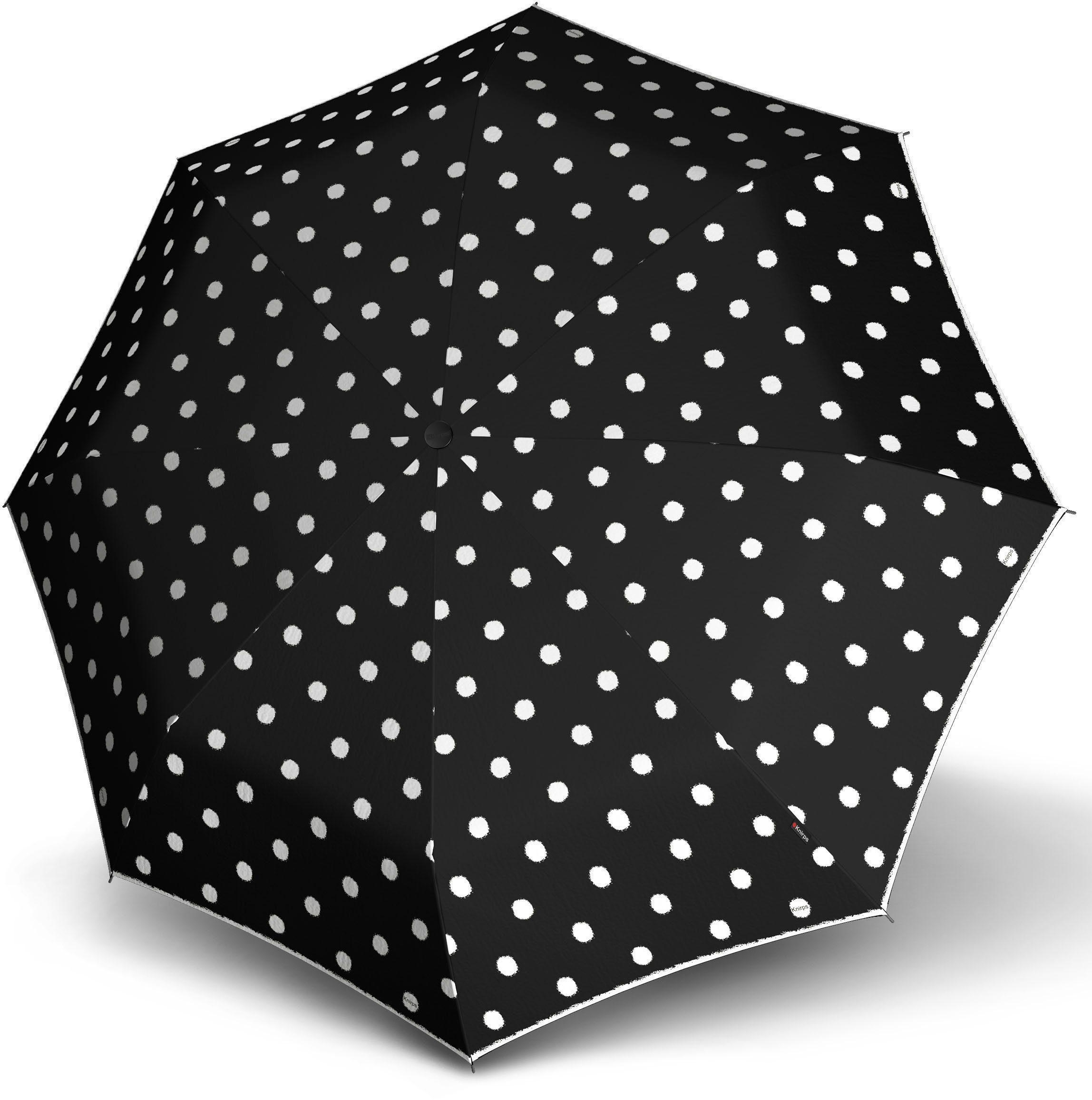 Knirps® Regenschirm, »Taschenschirm T2 dot art black«