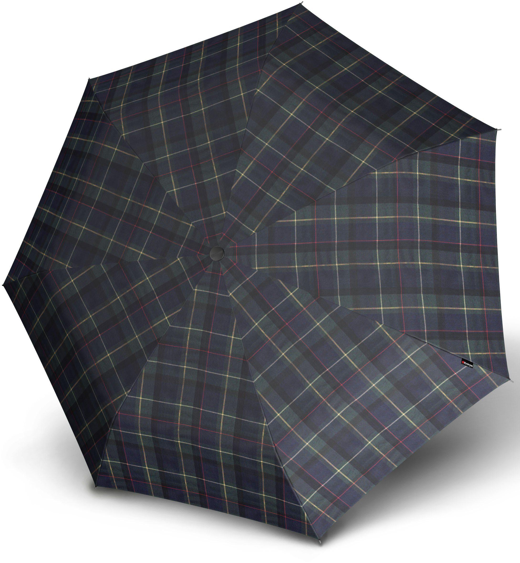 Knirps® Regenschirm, »Taschenschirm Piccolo check blue + green«