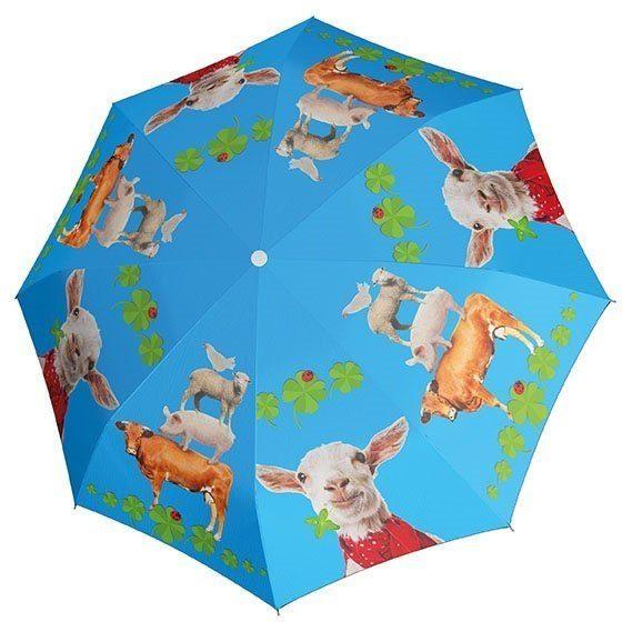 doppler® Regenschirm für Kinder, »Stockschirm Farmtastic Automatik«