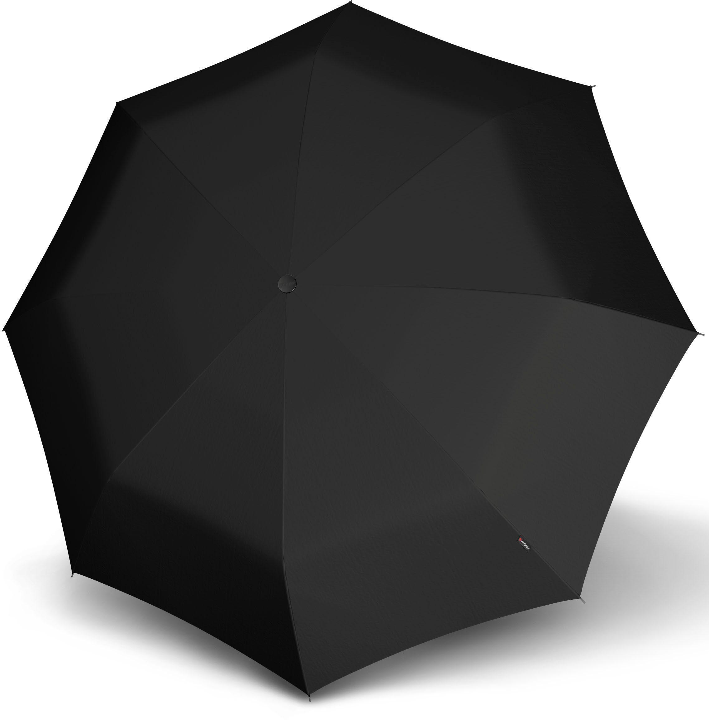 Knirps® Regenschirm, »Taschenschirm Topmatic SL crook RHG schwarz«
