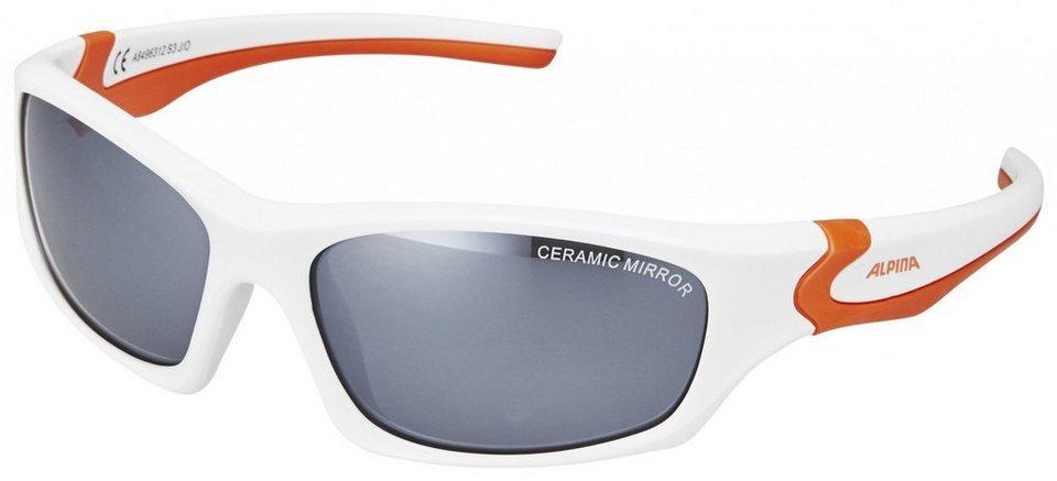 Alpina Radsportbrille »Flexxy Teen« in weiß