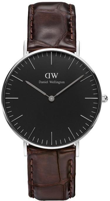 Daniel Wellington Quarzuhr »Classic Black York, DW00100146« in dunkelbraun