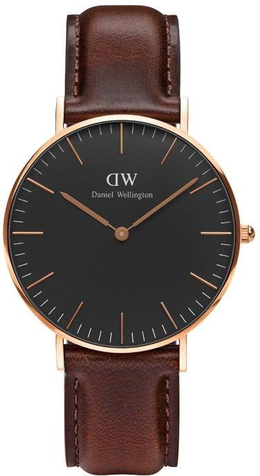 Daniel Wellington Quarzuhr »Classic Black Bristol, DW00100137« in dunkelbraun
