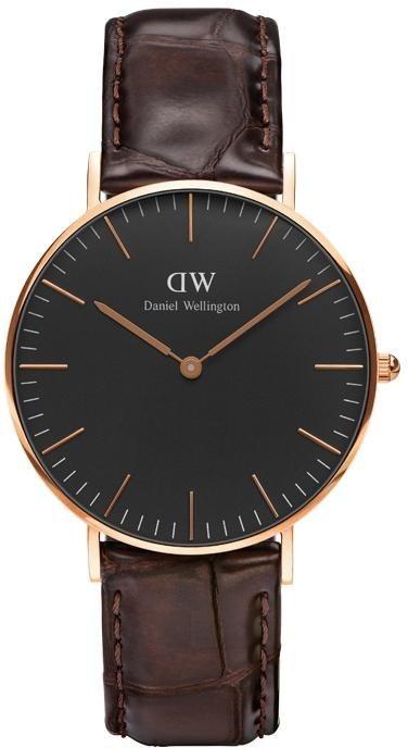 Daniel Wellington Quarzuhr »Classic Black York, DW00100140« in dunkelbraun