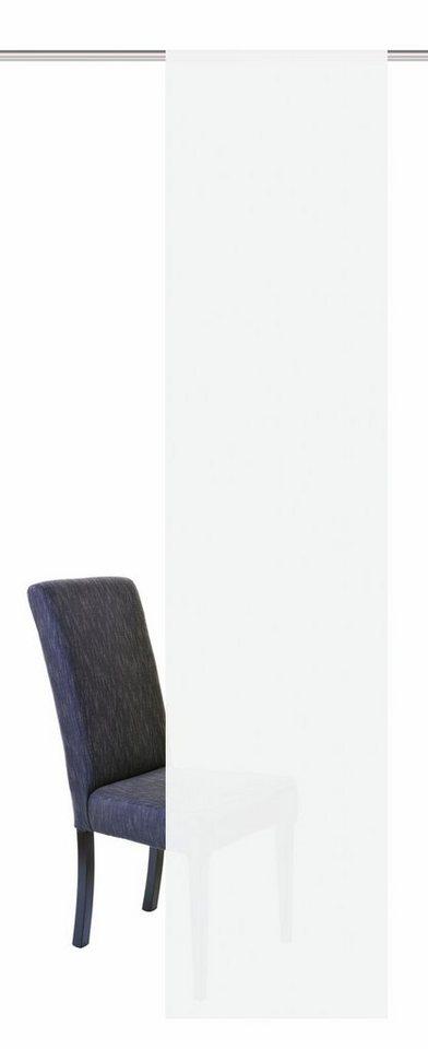 Schiebevorhang, Home Wohnideen, »SALO«, mit Klettband (1 Stück ohne Zubehör) in weiß