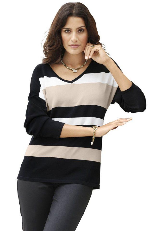 cr ation l pullover mit querstreifen vorne und l ngsstreifen hinten online kaufen otto. Black Bedroom Furniture Sets. Home Design Ideas