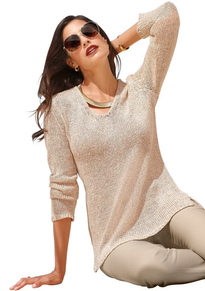 cr ation l pullover im b ndchen garn online kaufen otto. Black Bedroom Furniture Sets. Home Design Ideas