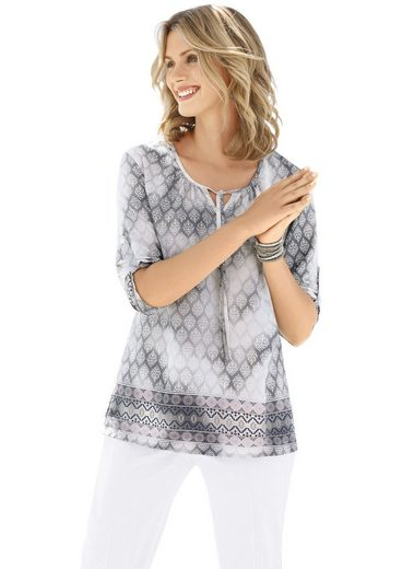 Ambria Blouse With Roll-up 3/4 Sleeves