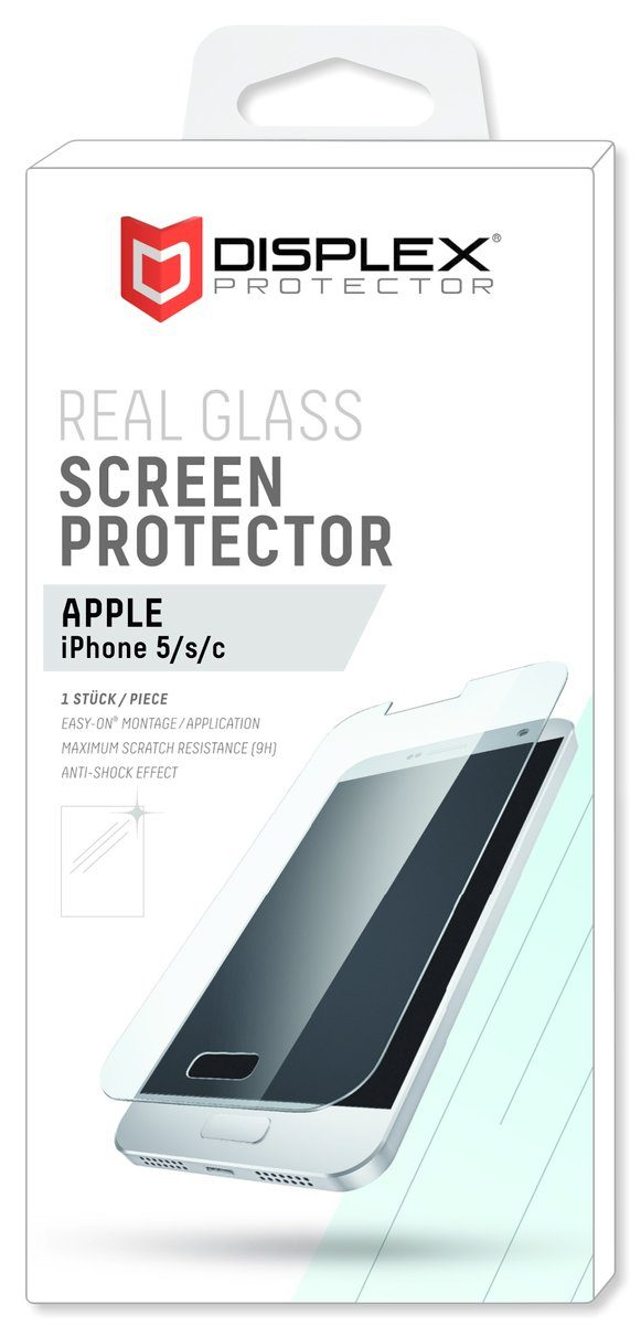 Displex Folie »Displayschutzglas für Apple iPhone 5/5S/5C/SE«