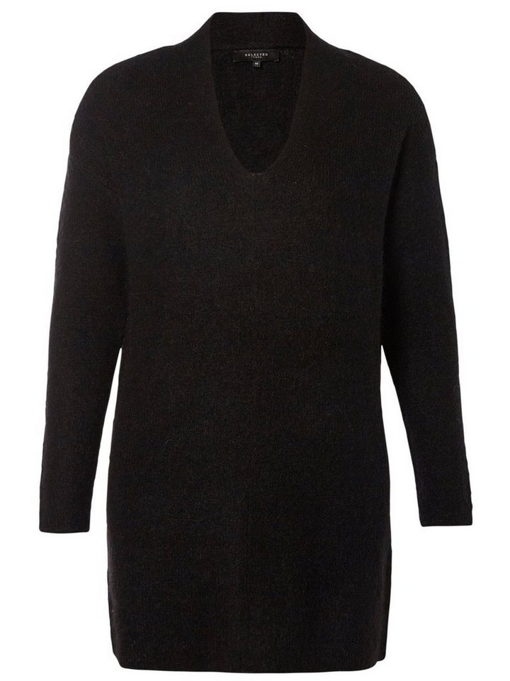 Selected Mohair- Strickpullover in Black