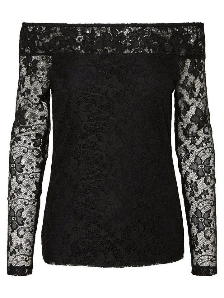 Vero Moda Off-ShoUlder- Langarmbluse in Black