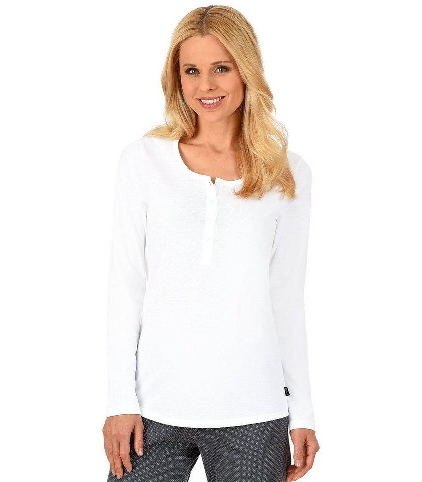 TRIGEMA Langarm-Shirt Baumwolle in weiss