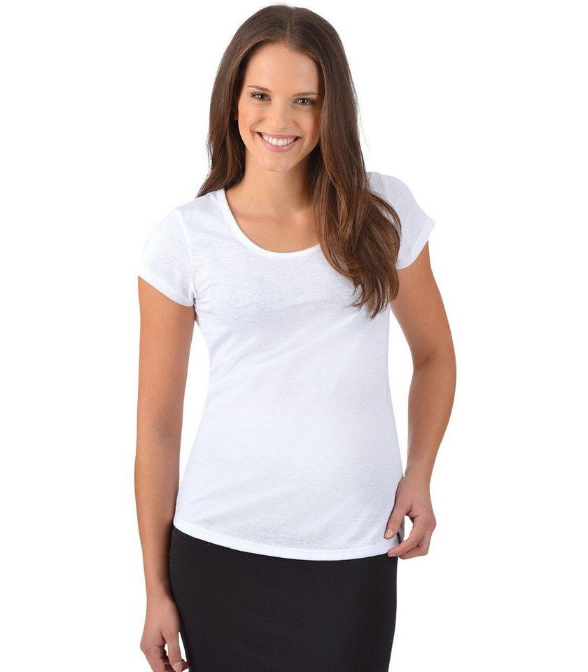 TRIGEMA T-Shirt Baumwolle Slim Fit in weiss