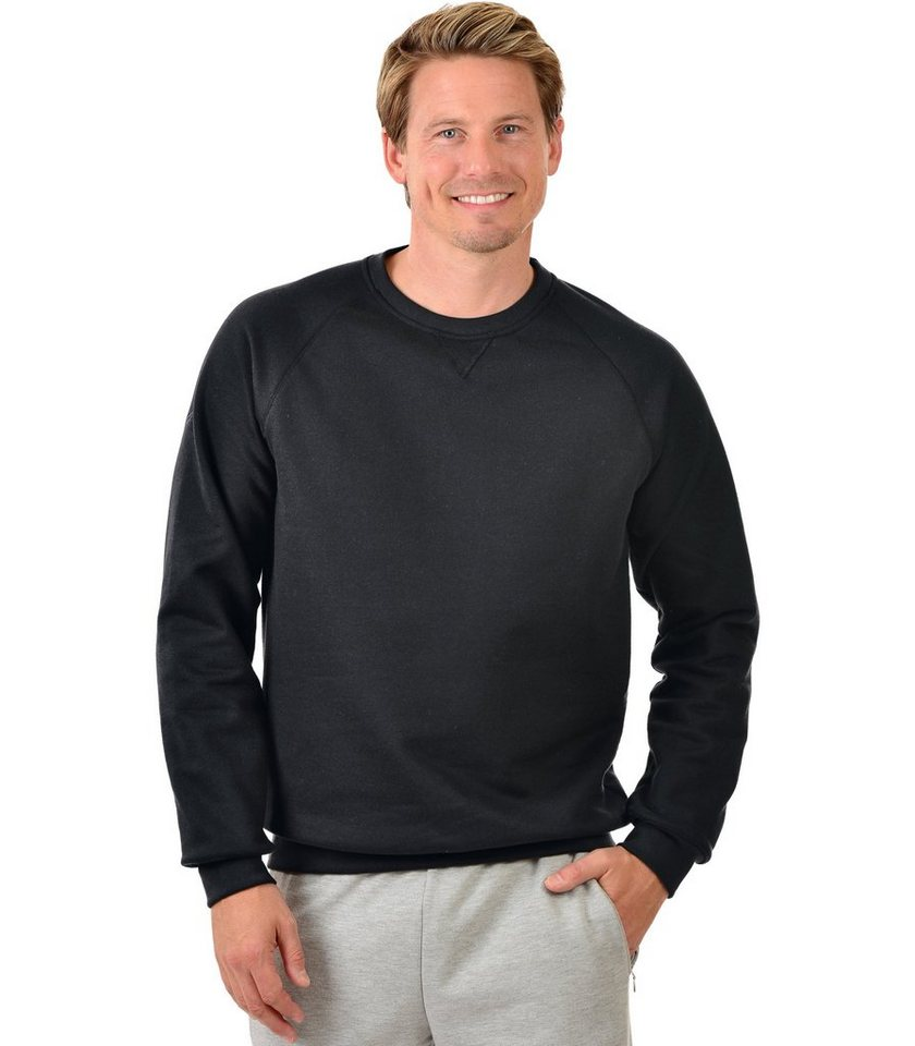 TRIGEMA Sweat-Shirt in schwarz