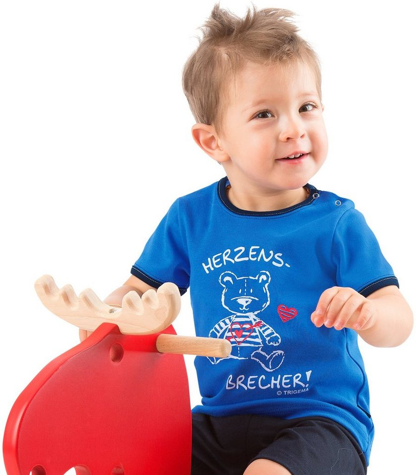 TRIGEMA T-Shirt Herzensbrecher in electric-blue