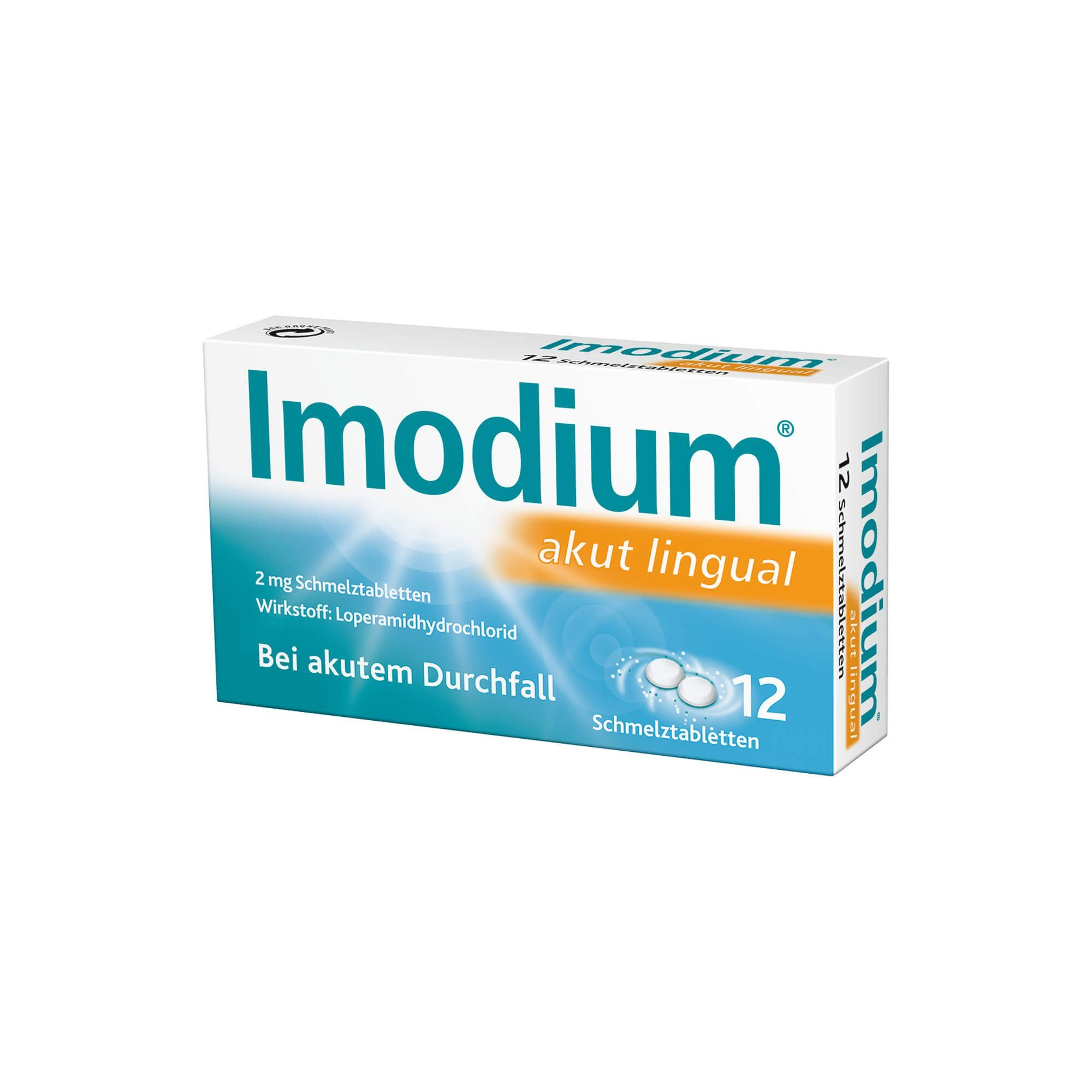 Imodium akut lingual Schmelztabletten , 12 St