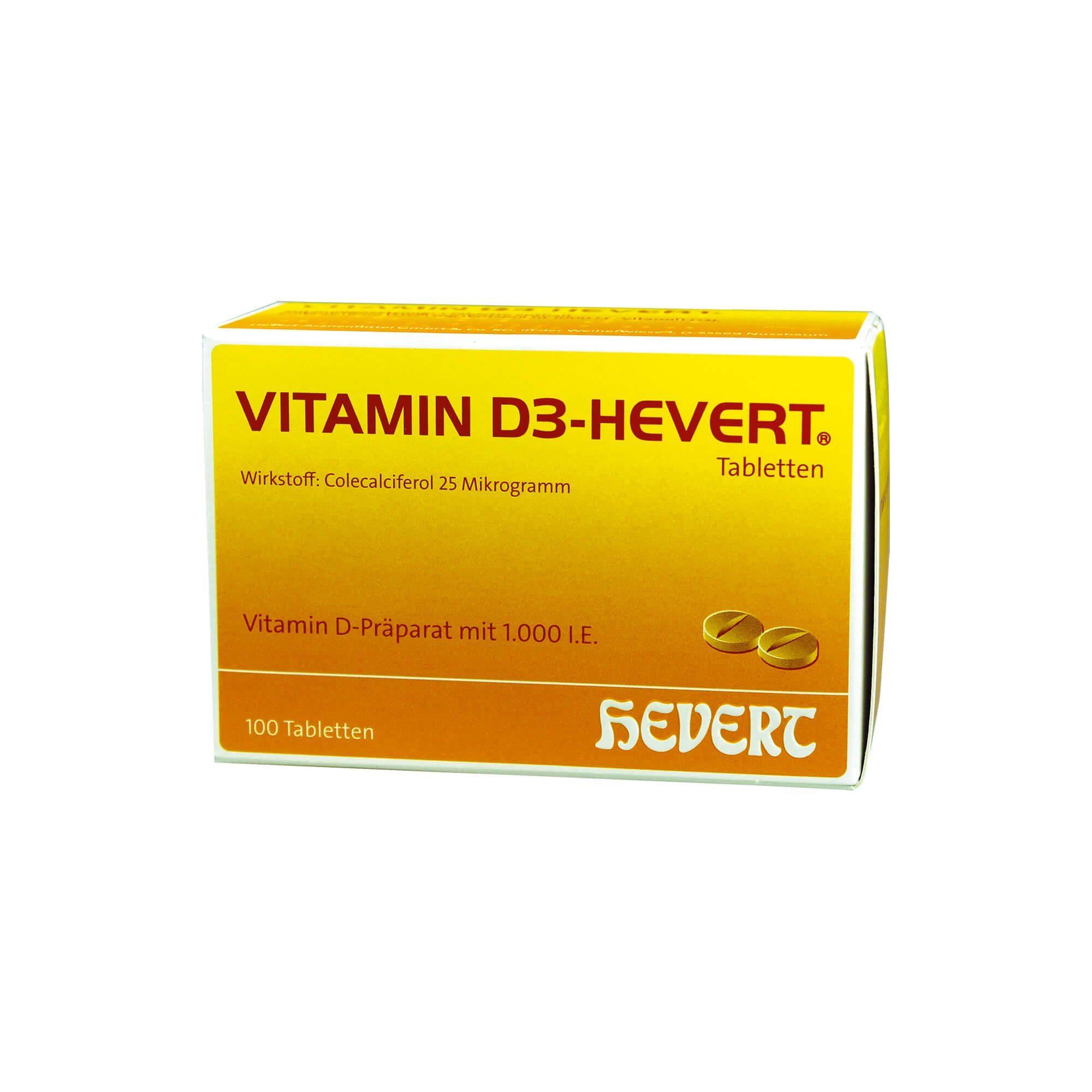 Vitamin D3 Hevert 1.000 I.E., 100 St
