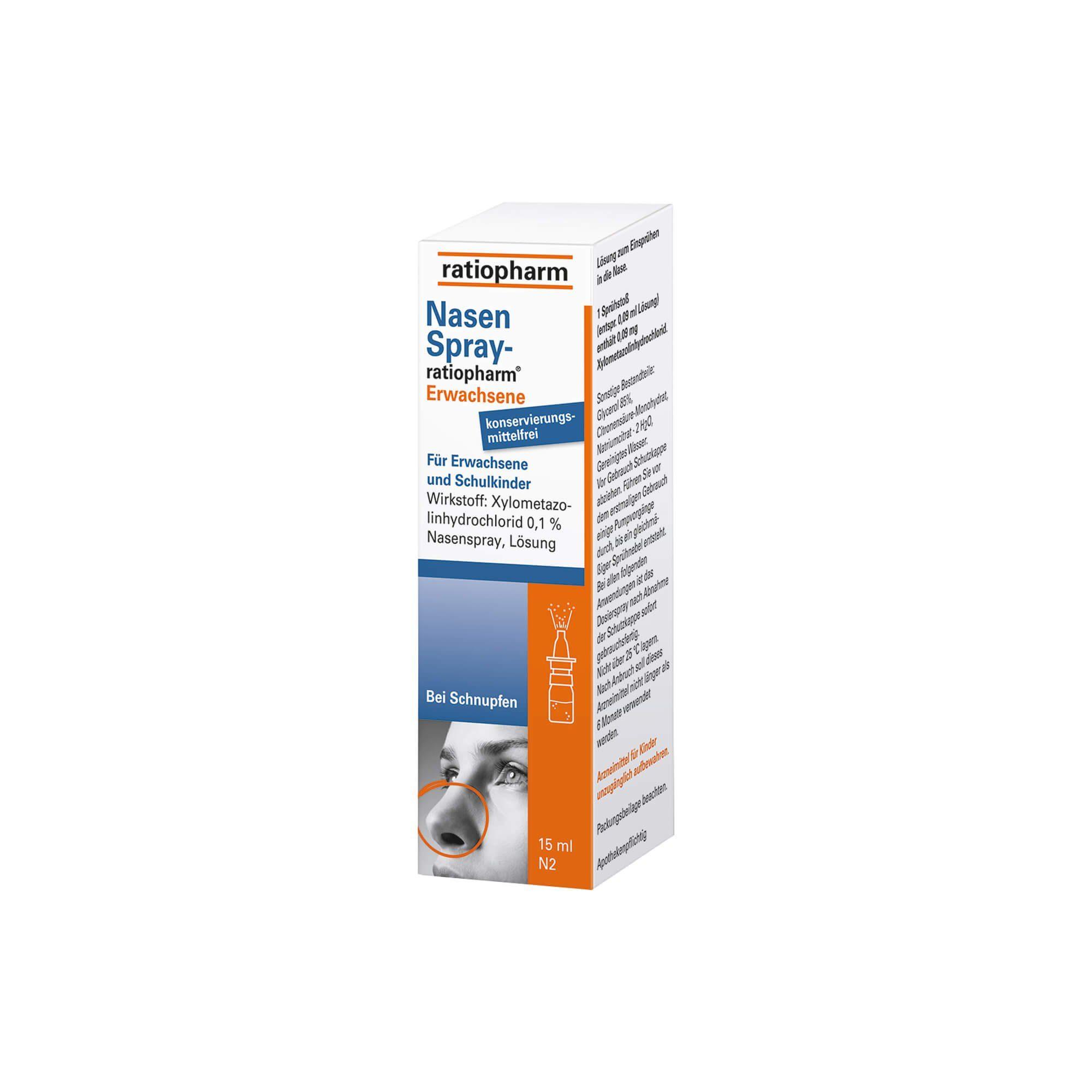 Nasenspray-ratiopharm für Erwachsene, 15 ml