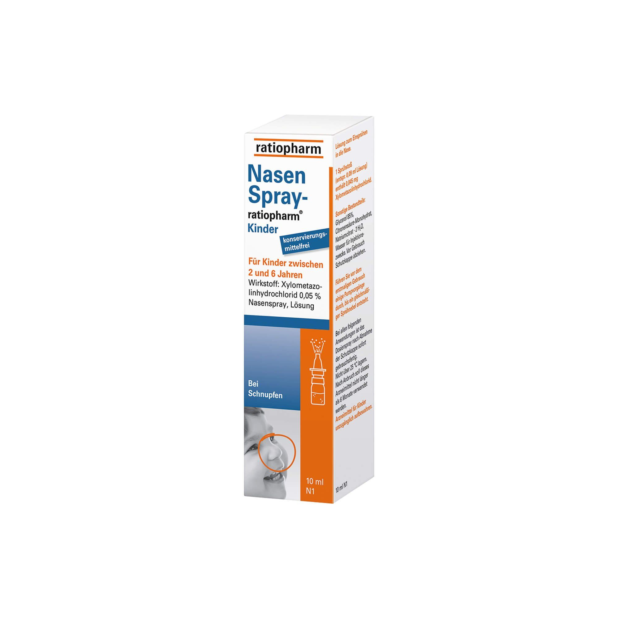 Nasenspray ratiopharm für Kinder, 10 ml