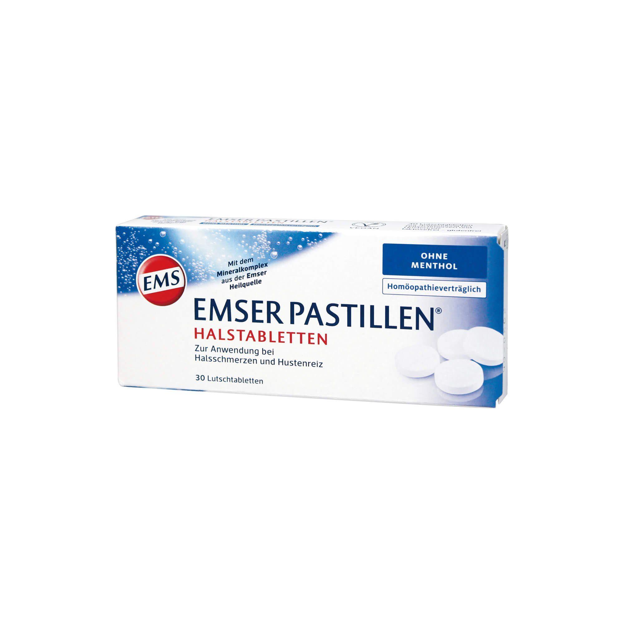 Emser Pastillen homöopathiever. Halstabletten ohne Menthol , 30 St
