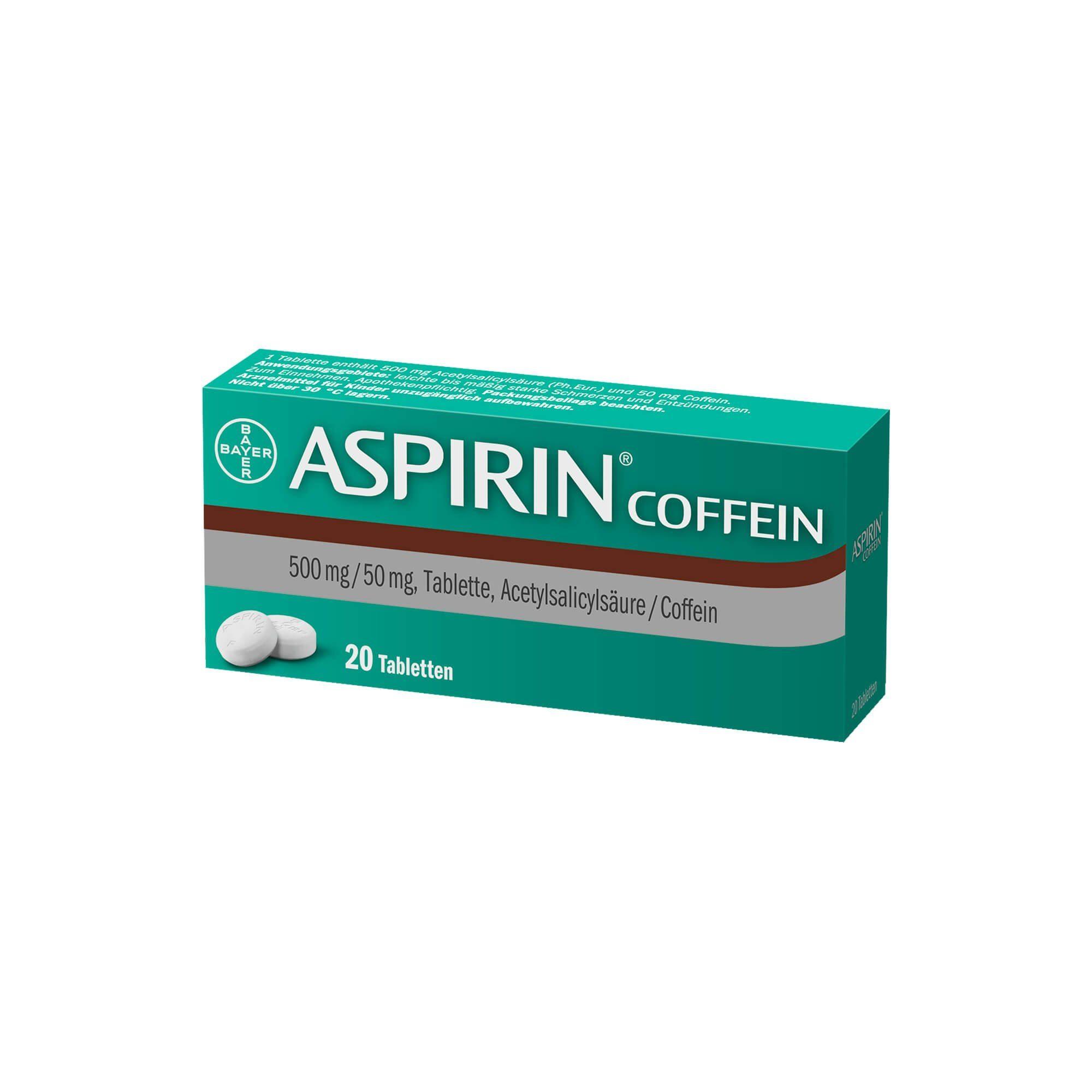 Aspirin Aspirin Coffein Tabletten , 20 St