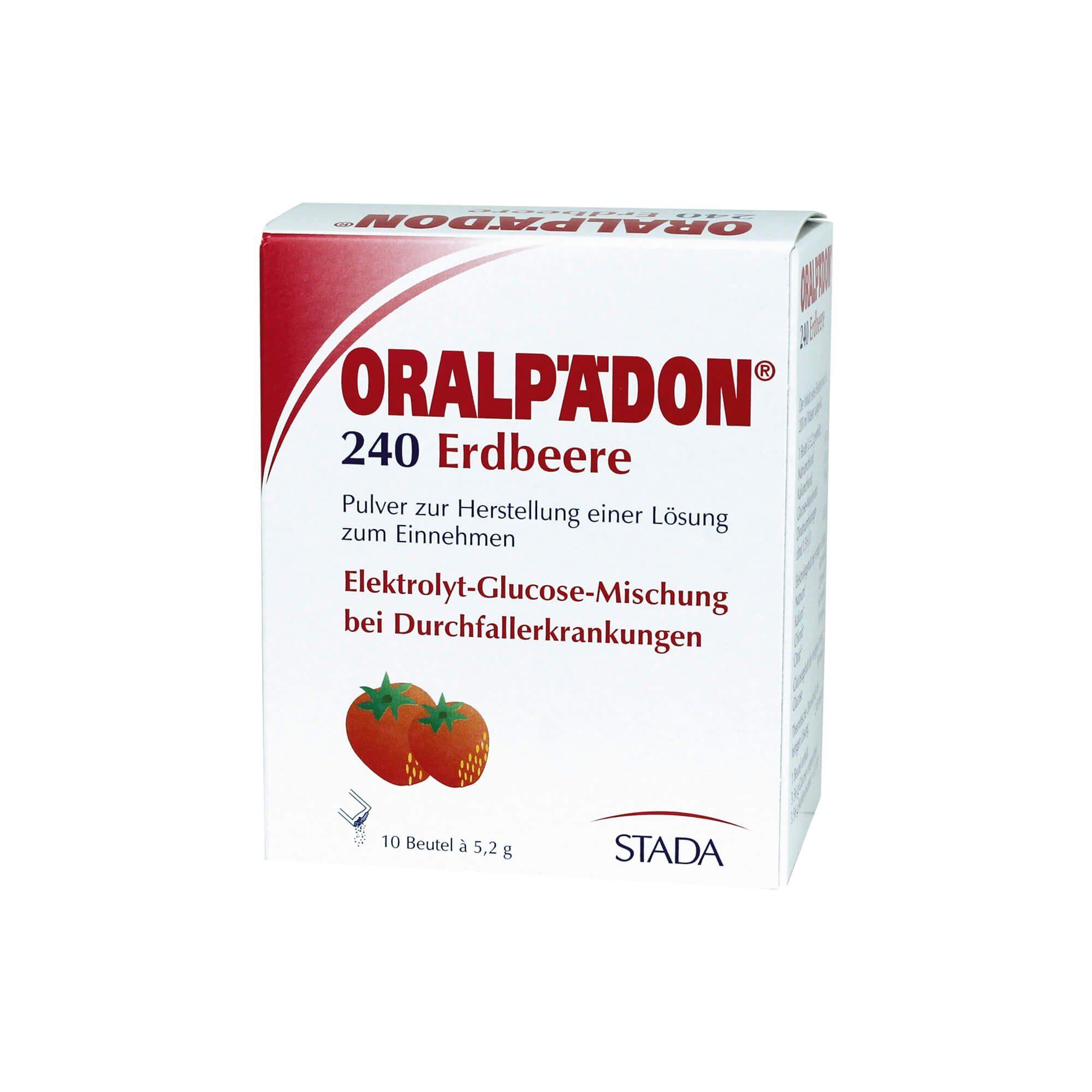 Oralpädon 240 Erdbeere Beutel, 10 St