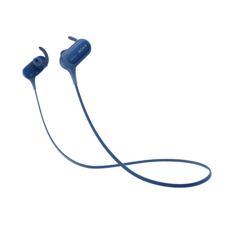 Sony Kabelloser Sport In-Ear Kopfhörer (Spritzwassergeschützt) »MDR-XB50BS« in blau