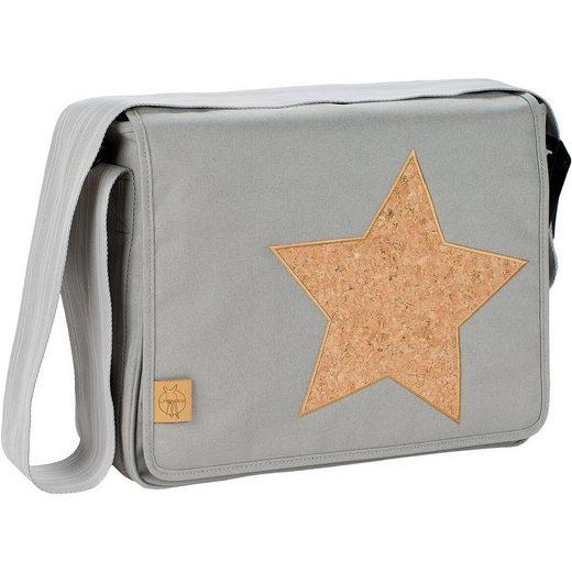 Lässig Wickeltasche, Casual, Messenger Bag, Cork Star, Light Grey