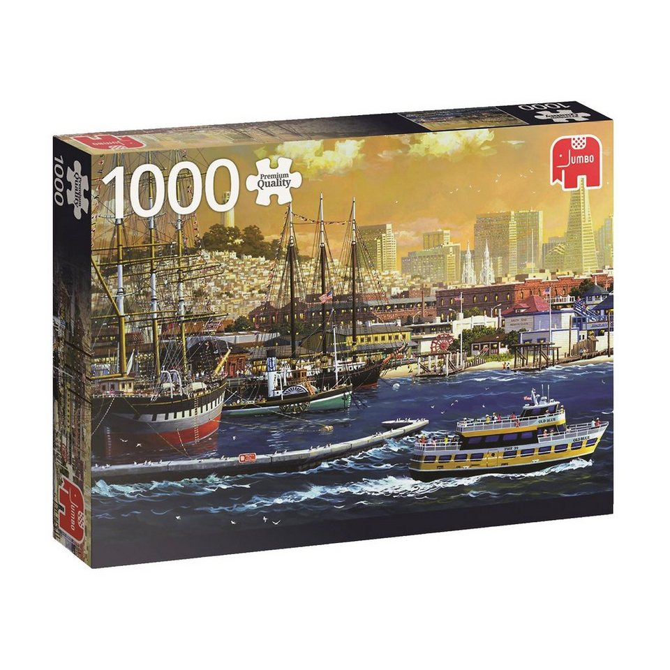 Jumbo Puzzle 1000 Teile - The harbour of San Francisco, USA online kaufen
