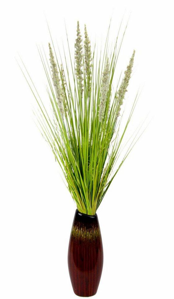 Kunstpflanze grasbusch in vase online kaufen otto for Otto vasen
