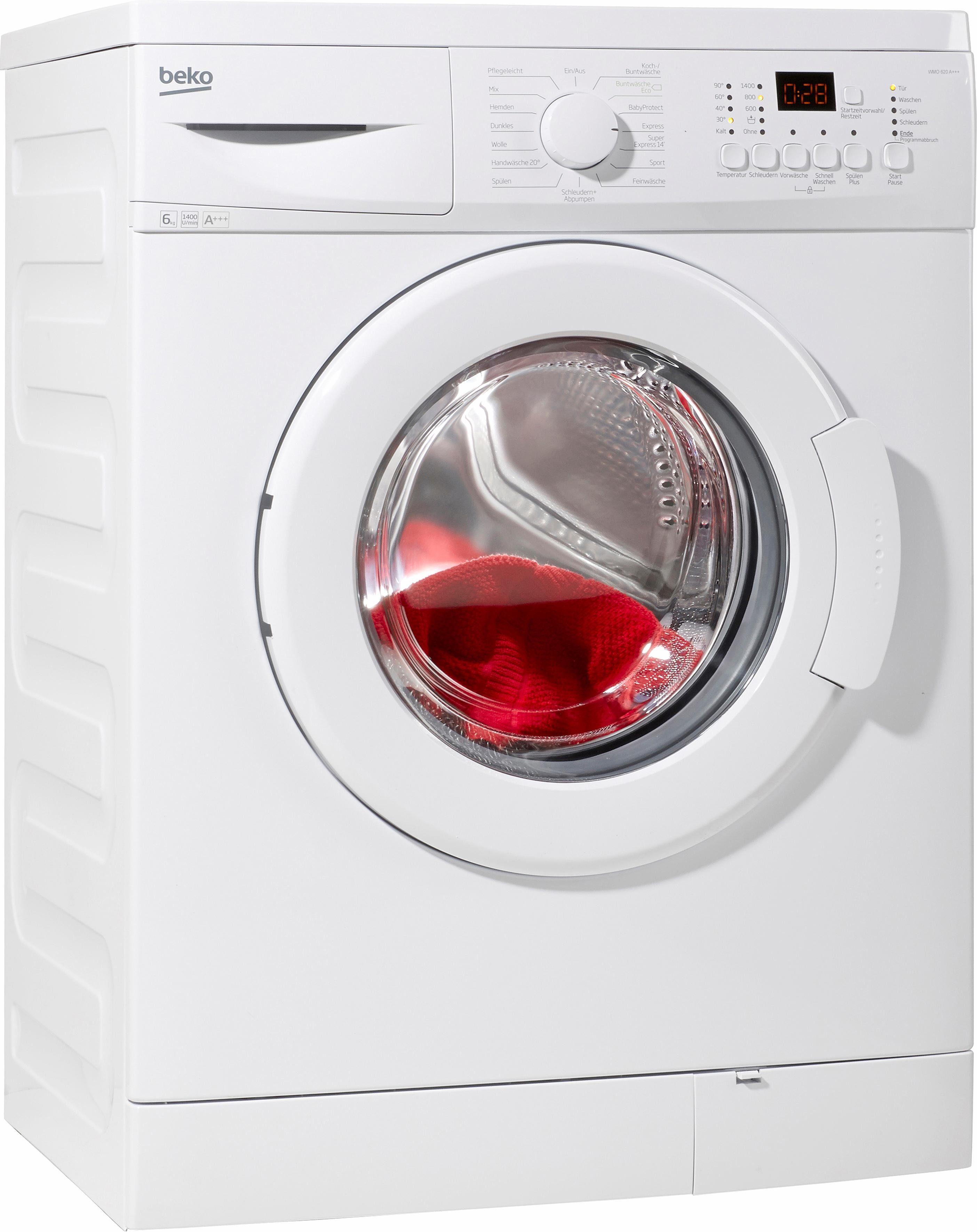 BEKO Waschmaschine WMO 620, A+++, 6 kg, 1400 U/Min